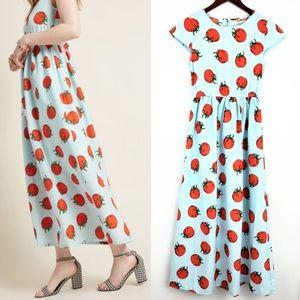 ModCloth Compania Fantastica Tomato Maxi Dress XS